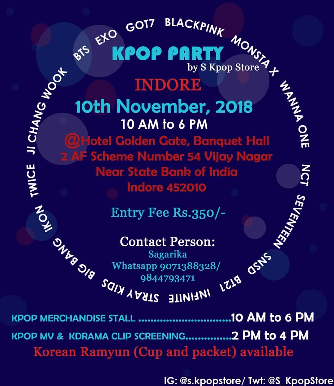 indore party kpop