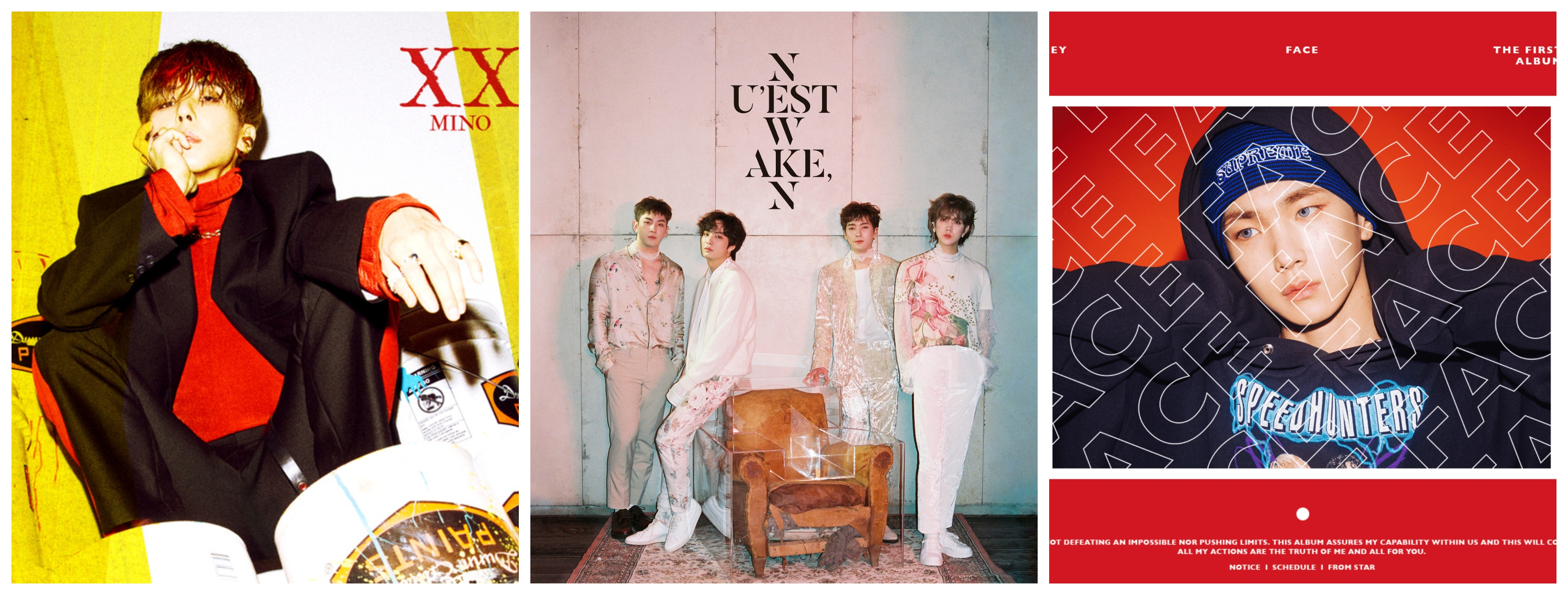 WINNER's Mino, NU'EST W and SHINee's Key break into Indian iTunes!