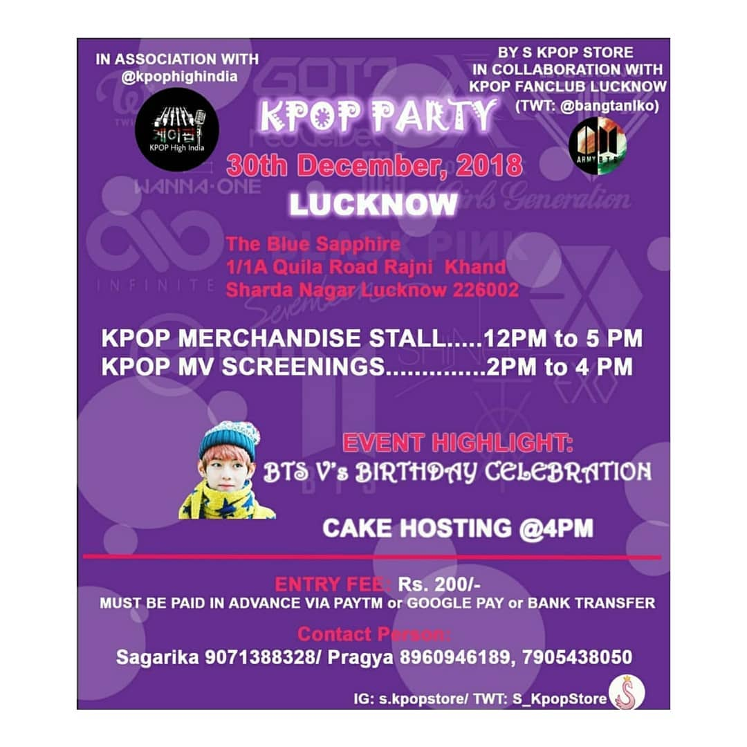 K-POP Party and BTS V's Birthday Celebration in Lucknow