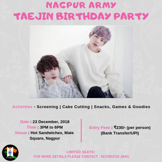 TaeJin Birthday Celebration in Nagpur