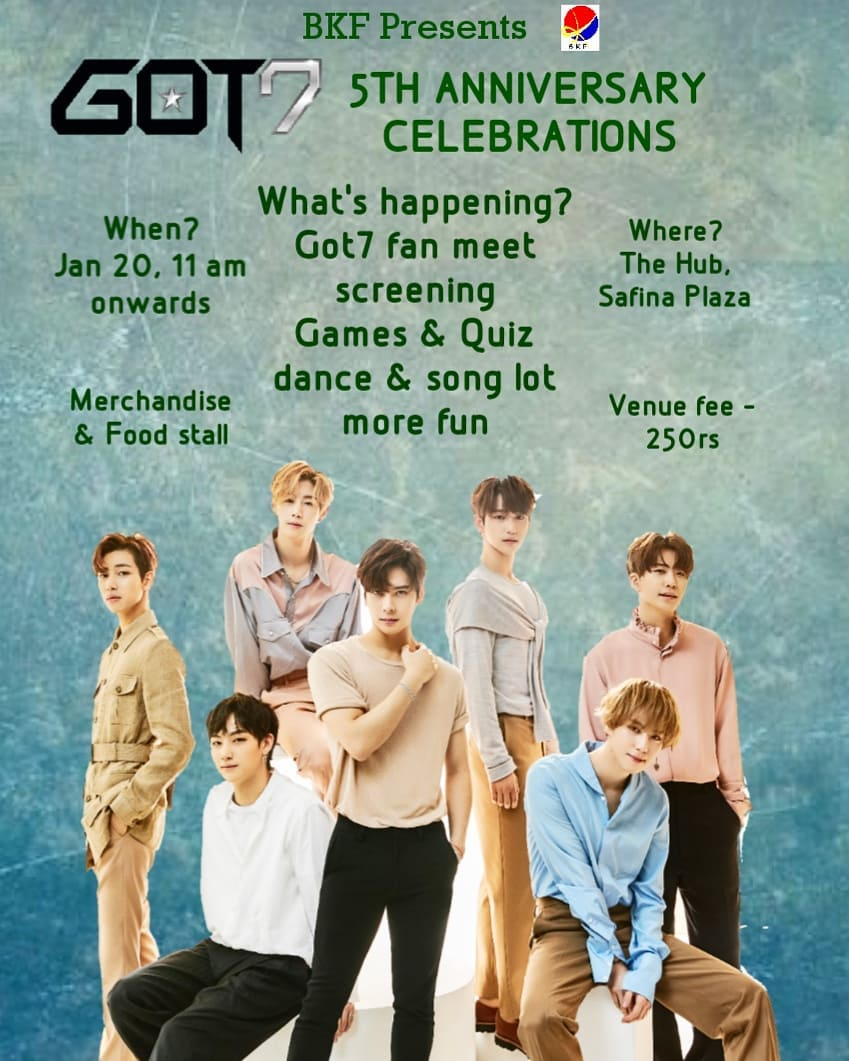 GOT7 fifth anniversary celebration in Bengaluru