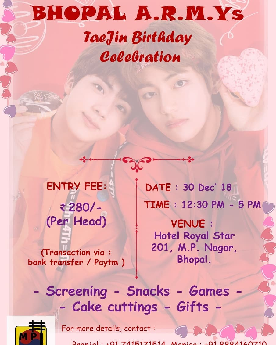 TaeJin Birthday Celebration in  Bhopal