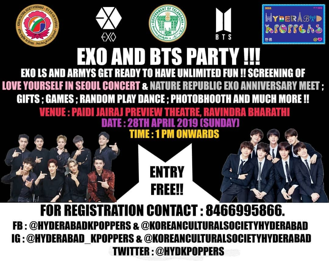 EXO AND BTS PARTY - HYDERABAD - 28th APRIL - KPOP High India