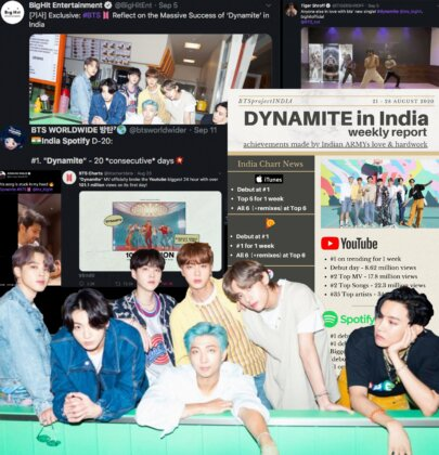 "Mapping BTS' ""DYNAMITE"" Explosion In India"