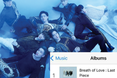 "GOT7 charts at #1 on iTunes India Album Chart with Album, ""Breath of Love: Last Piece"""